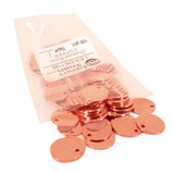 Bag of Copper Jewelry Tags in style I