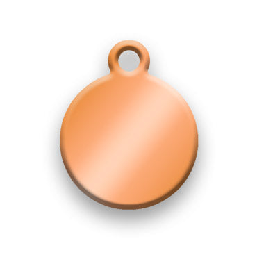 Copper Jewelry Tag A - Rendered Image