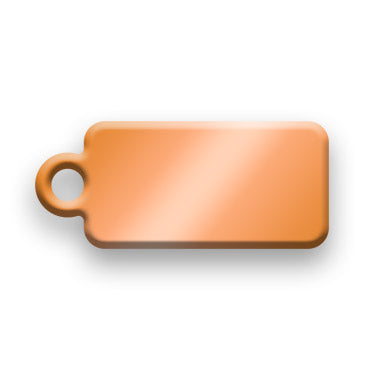 Copper Jewelry Tag C - Rendered Image
