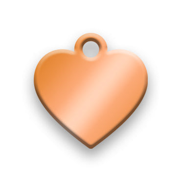 Copper Jewelry Tag G - Rendered Image