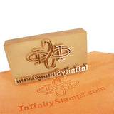 Custom Leather Plate Stamp - Brass