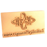 Closeup view of Custom Leather Plate Stamp - Brass