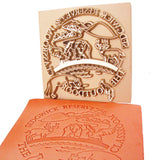 Image of Custom Brass Leather Plate Stamp and Impression