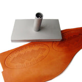 Custom Leather Plate Stamp - Steel