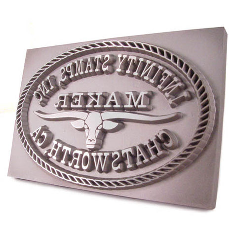 Closeup image of Custom Maker Plate Stamp