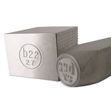 Image of Custom Steel Hand Stamp for Metals and impression