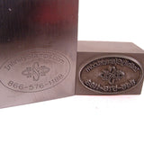 Image of Custom Steel Plate Stamp for Metals and impression