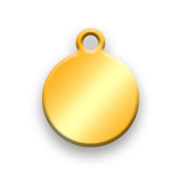 14k Gold Plated Jewelry Tag A - Rendered Image