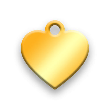 14k Gold Plated Jewelry Tag G - Rendered Image