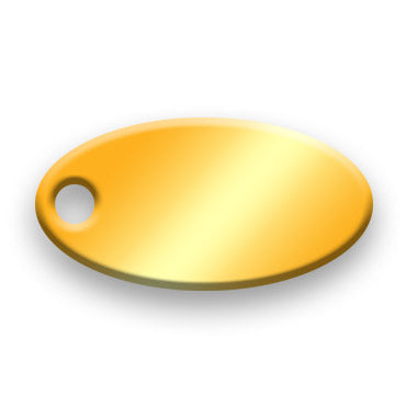 14k Gold Plated Jewelry Tag H - Rendered Image