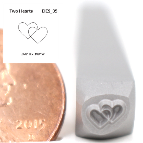 Design Stamp - Two Hearts - Design 35