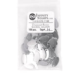 Nickel Silver Jewelry Tag H - 100 Pack
