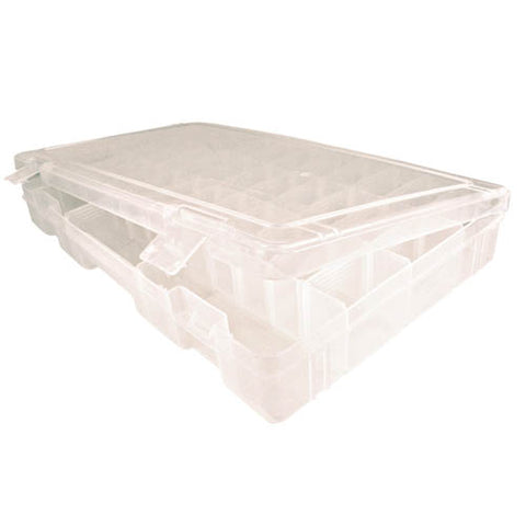 Closeup of Plastic Compartment Box