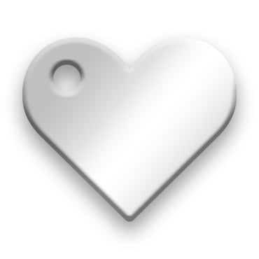 Sterling Silver Jewelry Tag J - Rendered Image