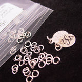 Closeup view of Sterling Silver Jump Rings - 100 Pack