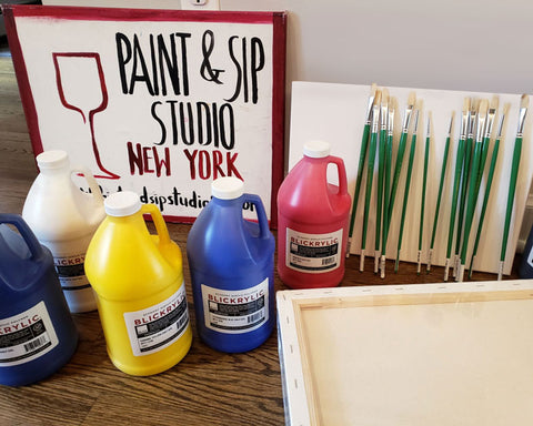 Paint and Sip Supplies