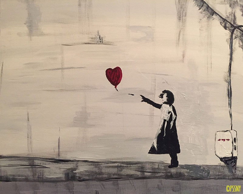 Banksy's Red Balloon!