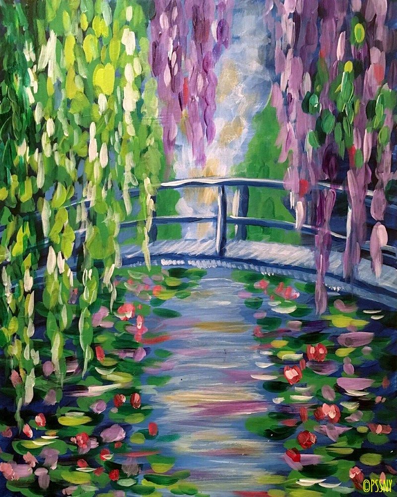 Monet's Bridge - Supplies Included