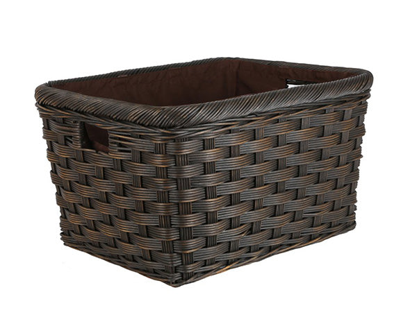 Rectangular Wicker Donation Baskets