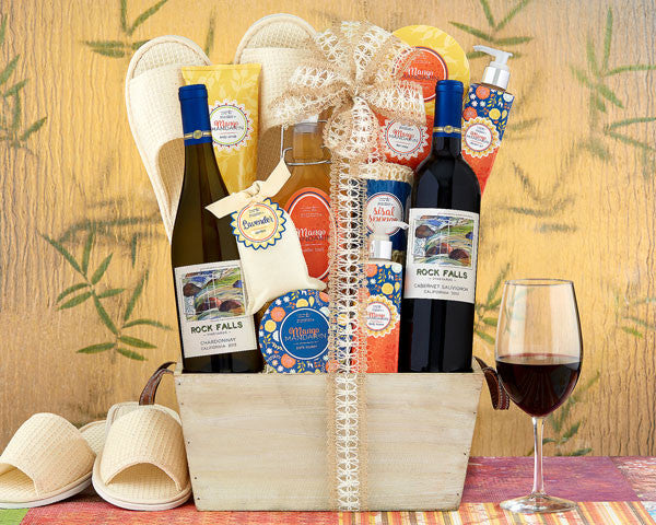 730 Rock Falls Vineyards Mango Spa Collection Gift Basket