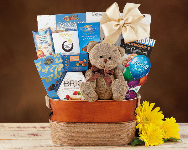 989G Bear Hugs Get Well Soon Gift Basket