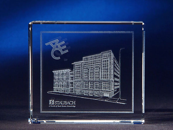 Thin Cut Rectangle Crystal Award