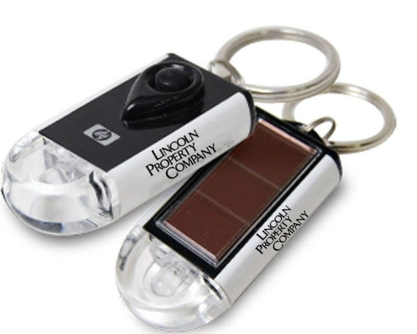 Solar Power Flashlight Keychain