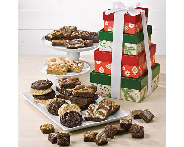 4-Tier Vintage Holiday Brownie Tower