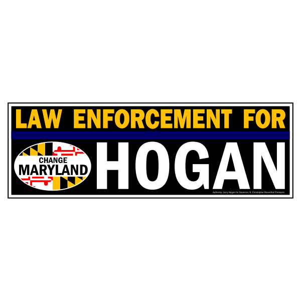 Bumpersticker - Law Enforcement for Hogan