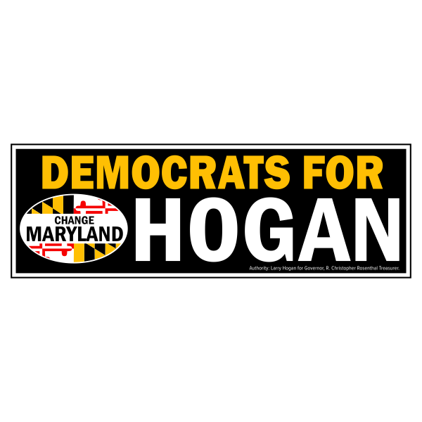 Bumpersticker - Democrats for Hogan