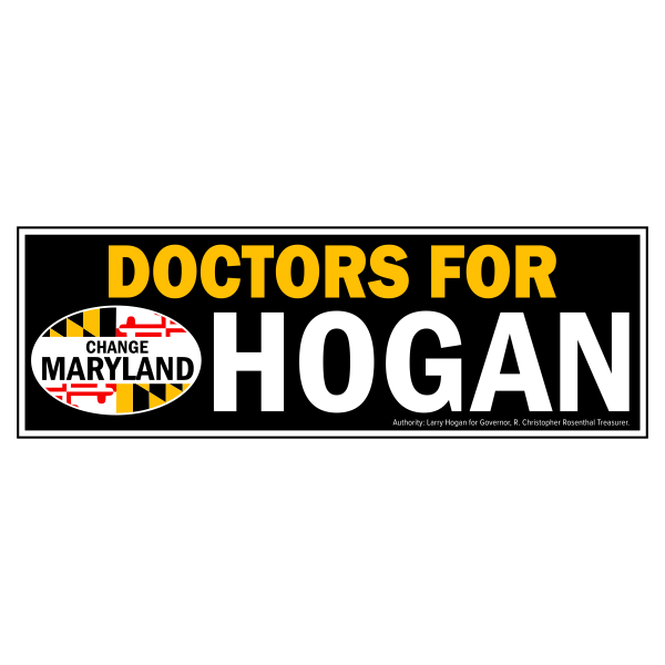 Bumpersticker - Doctors for Hogan