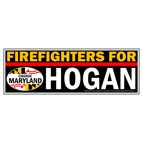 Bumpersticker - Firefighters for Hogan