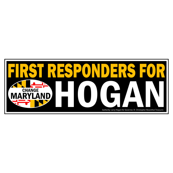Bumpersticker - First Responders for Hogan