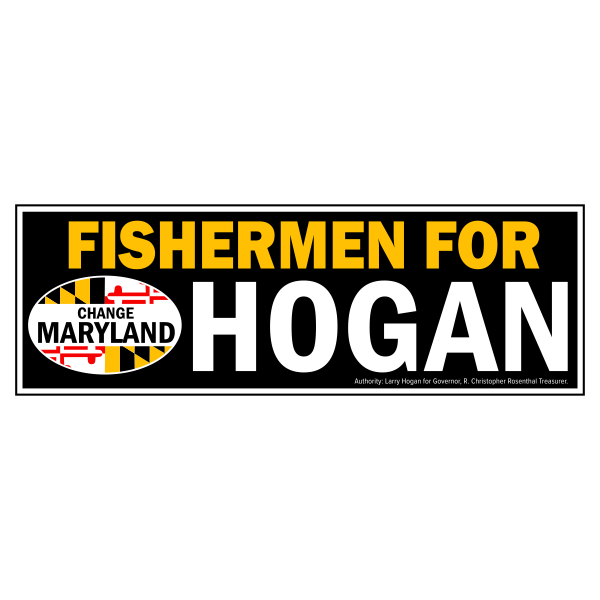 Bumpersticker - Fishermen for Hogan