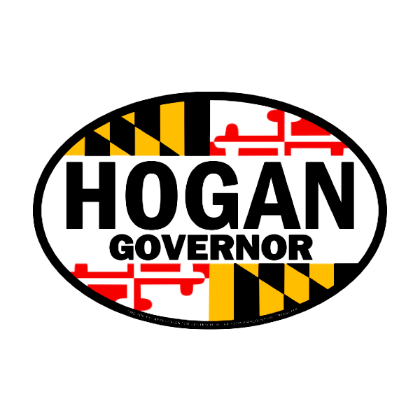 Bumpersticker - Hogan Governor Oval