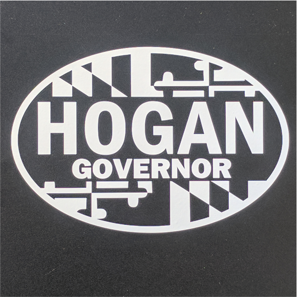 Decal - Hogan Governor White Vinyl