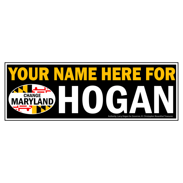 Bumpersticker - Personalized for Hogan