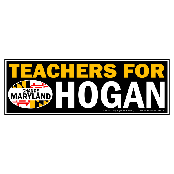 Bumpersticker - Teachers for Hogan