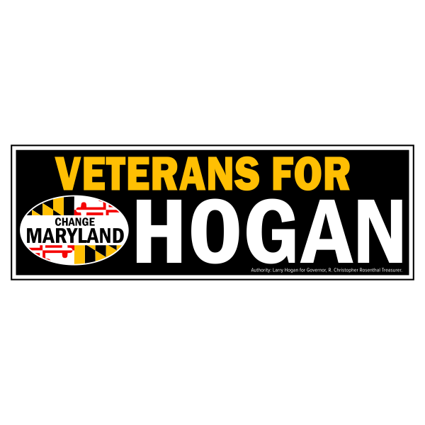 Bumpersticker - Veterans for Hogan