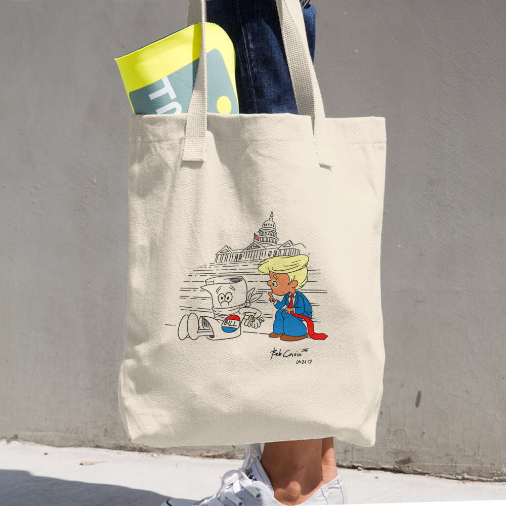 """How a Bill now becomes a Law"" Cotton Tote Bag"