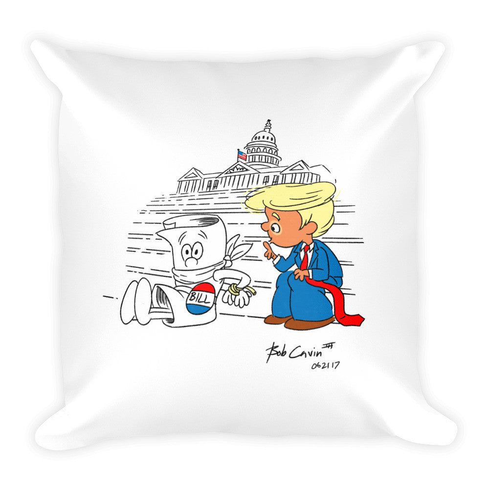 """How a Bill now becomes Law"" Square Pillow"