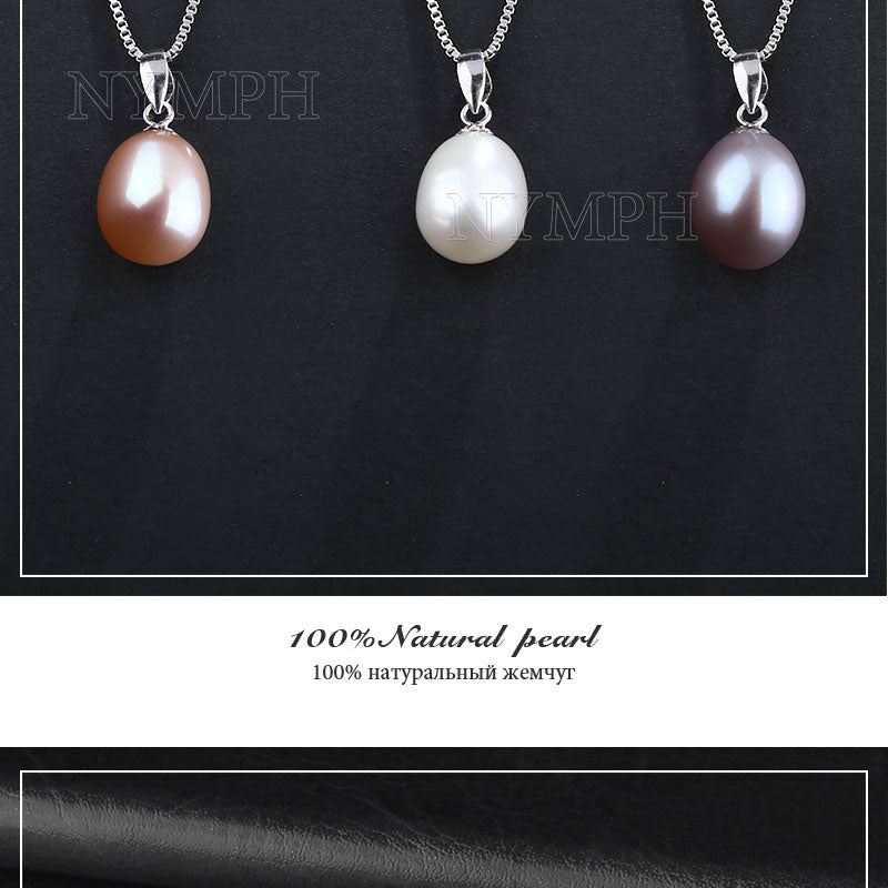 Sterling- Silver Genuine Natural Freshwater Pendant Necklace/Earrings