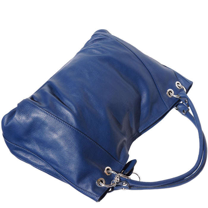 "GENUINE SOFT CALF-SKIN LEATHER ""HOBO"" BAG"