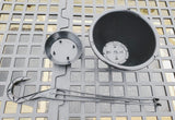 Black Hanging Baskets - Set of 6 - Made in the USA