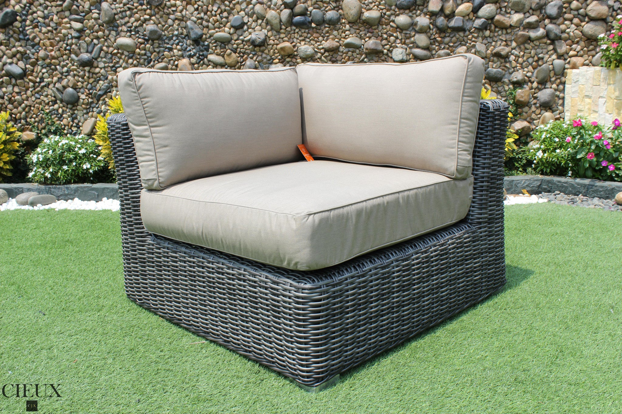 Marseille Wicker Sunbrella Corner Sectional Sofa CIEUX