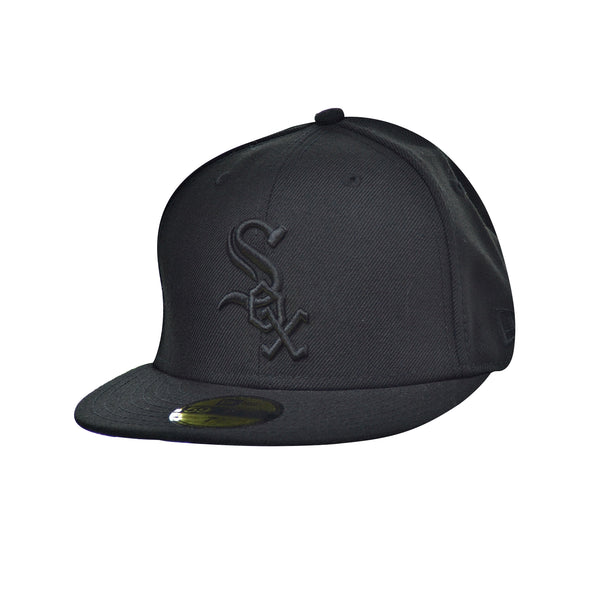 New Era Chicago Sox 59Fifty Men's Fitted Hat Cap Black-Black