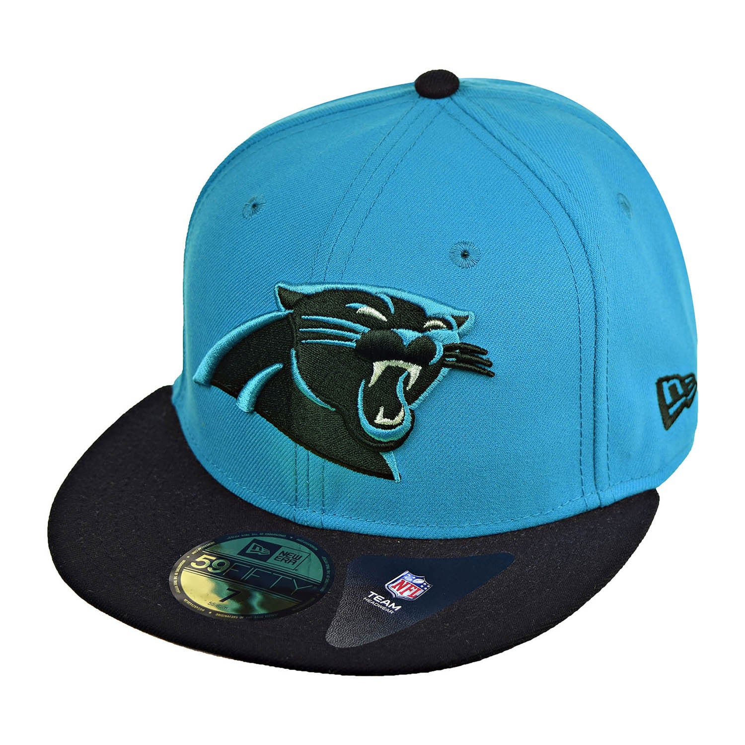 New Era Carolina Panthers NFL 2Tone 59Fifty Men's Fitted Hat Cap Blue/Black