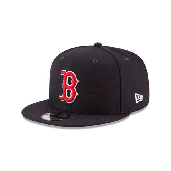 New Era 9Fifty MLB Boston Red Sox Basic Men's Snapback Hat Navy-Red