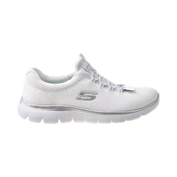 Skechers Summits Cool Classic Women's Shoes White-Silver
