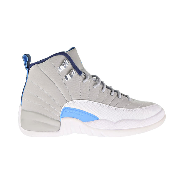 "Air Jordan 12 Retro GB ""UNC"" Big Kids Shoes Wolf Grey-University Blue-White-Navy"